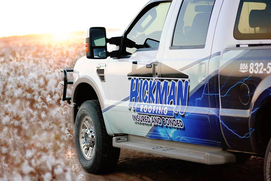 Hickman Roofing Work Truck